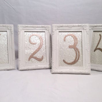 Table Number Frames Wedding Frames White From Rusticwedding101 On