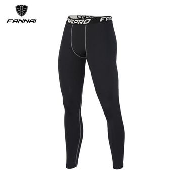 FANNAI Gym Men Sport Leggings Elastic Fitness Running Tights Mens Breathable Jogger Pants Skinny Compression Athletic Trousers
