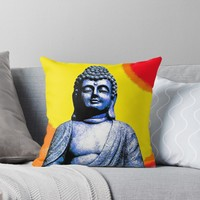 'BUDDHA' Throw Pillow by planetterra