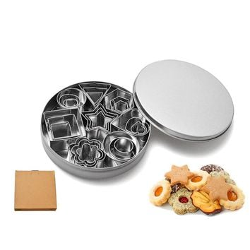Stainless Steel Cookie Cutters Set Baking Metal Pastry 24 Pcs