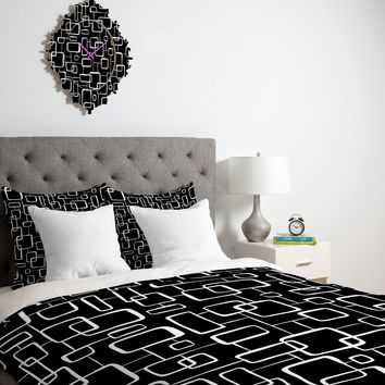 Heather Dutton On The Quad Black Duvet Cover