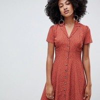 New Look Button Through Tea Dress at asos.com