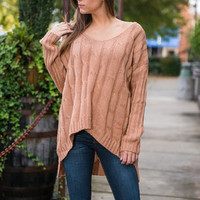 Back and Forth Sweater, Camel