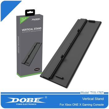 Vertical Stand for Xbox one x Console  with ABS Platic Front + Metal Bottom Plate & 4x Non-Slip Rubber Pad(Metal Bottom Plate)
