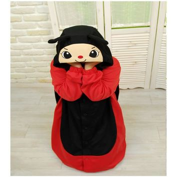 HKSNG Winter Adult Animal Ladybug Clothes Christmas Party Supplies Cosplay  Footed Pajamas For Women Onesuits On Sale