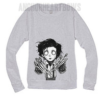 Punk Cute Edward Scissor Hands  Hipster Crewneck Sweatshirt Perfect for October Halloween! #110