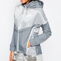Nike Bonded Zip Front Windbreaker Jacket