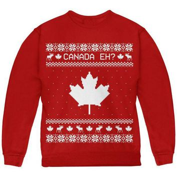 DCCKU3R Canadian Canada Eh Ugly Christmas Sweater Youth Sweatshirt
