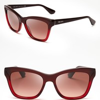 Prada Layered Cat Eye Sunglasses