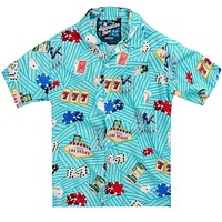The All In Hawaiian Shirt in Teal by Rowdy Gentleman - FINAL SALE