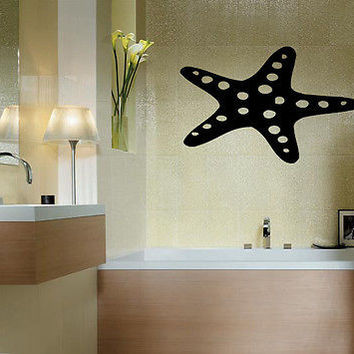 STARFISH  ANIMAL WALL VINYL STICKER  DECALS ART MURAL D205