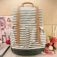 Sky Blue and White Striped Backpack&Lapalett