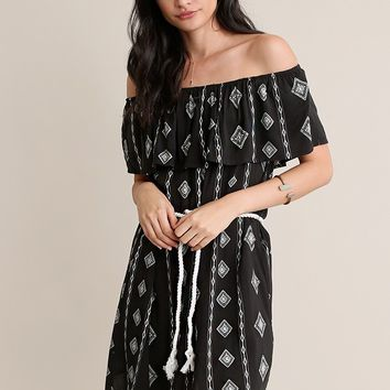 Wiltern Printed Off-Shoulder Dress | Threadsence