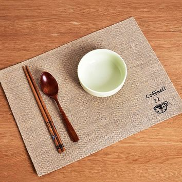 Cup Print Placemat 1pc