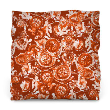Blood Orange Throw Pillow