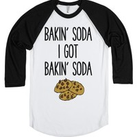 Bakin' Soda Cookies-Unisex White/Black T-Shirt