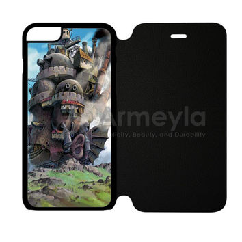 Howl Moving Castle Poster iPhone 6 Plus/6S Plus Flip Case | armeyla.com