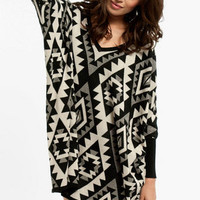 Navajo Oversized Sweater $40