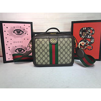 GUCCI WOMEN'S GG SUPREME CANVAS Ophidia HANDBAG INCLINED SHOULDER BAG