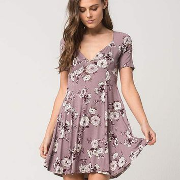 SOCIALITE Sketched Floral Cutout Dress | Short Dresses