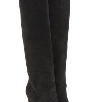 New Fashion Thigh High Boots Amazing High Heels Shoes Woman Boots Discount Botas Mujer Suede Wedges Women Boots
