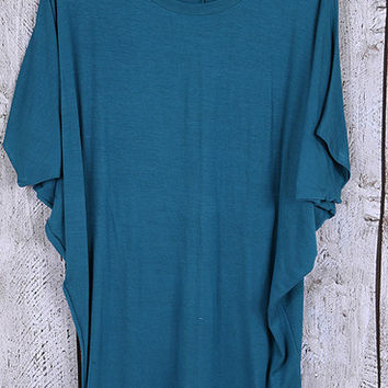 Lazy Day Lazy Fit Dolman - Teal