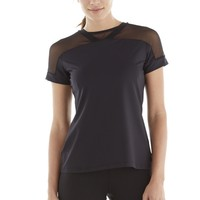 Michi Kai Top -  Black | Designer Mesh Activewear Top