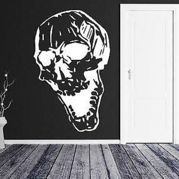 Wall Sticker Vinyl Decal Scary Skull Gothic Horror Dark Humor Art Decor Unique Gift (m233)