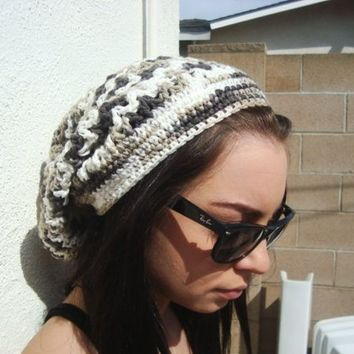 Crochet Mesh Hat - Unisex - Open Weave - Cotton - Slouchy - Spring - Summer
