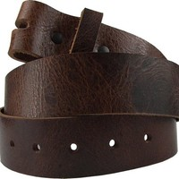 Hot Buckles Tan Marble Full Grain Genuine Leather Snap On Belt (Shades May Vary)