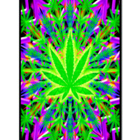 Heady Leaf Black Light Poster