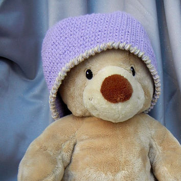 Crochet Hat Cotton Cloche Lilac Adult Size by CroweShea on Etsy