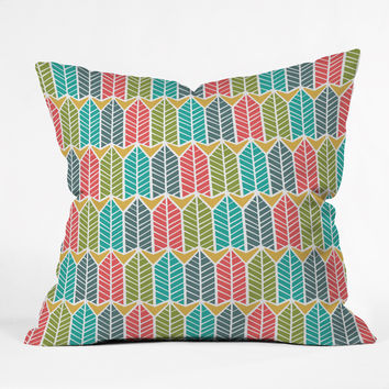 Heather Dutton Arboretum Leafy Multi Outdoor Throw Pillow