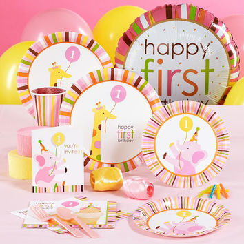 Sweet Safari Pink 1st Birthday Standard Pack