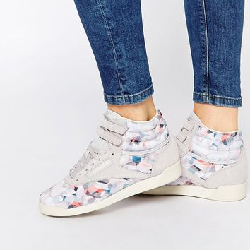 Reebok Geo Graphic Print High Top Trainers