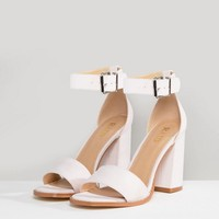 RAID Imani Pale Pink Block Heeled Sandals at asos.com