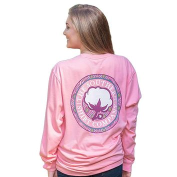 Tunisian Logo Long Sleeve Tee Shirt in Rose Pink by The Southern Shirt Co.