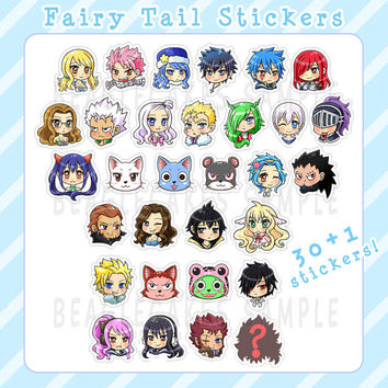 Fairy Tail Sticker. Anime Stickers. Kawaii Sticker. Laptop Sticker. Waterproof Sticker. Scrapbooking Supply. Party Favors. Geekery Gifts.