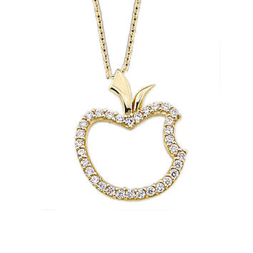 Apple 14k Solid Gold Necklace