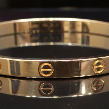 CARTIER 18ct Rose Gold LOVE Bangle, Size 20, Mint, Box & Papers, MINT