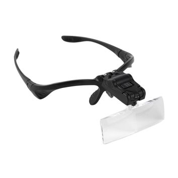 2016 new 5X Lens Adjustable Loupe Headband Magnifying Glass Magnifier with LED Magnifying Glasses Jeweler Watch Repair
