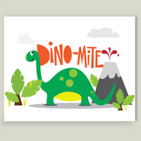 Dino-Mite Art Print by michaelaschuett on BoomBoomPrints