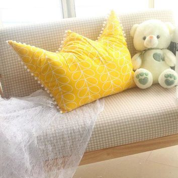 Crown Princess Style Cushion for Kid Children Can Be Dismantled Children Room Decoration pillow