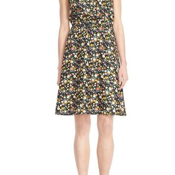 Tory Burch 'Kelsey' Sleeveless Floral Print Fit & Flare Dress | Nordstrom