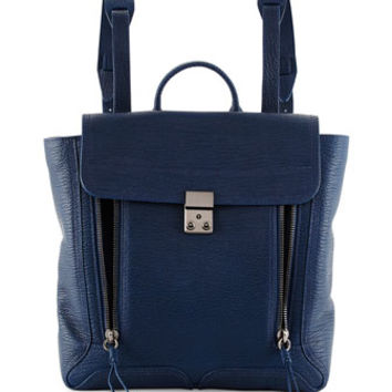 3.1 Phillip Lim Pashli Zip Leather Backpack, Lapis