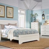 Belcourt Queen White 5Pc Panel Bedroom
