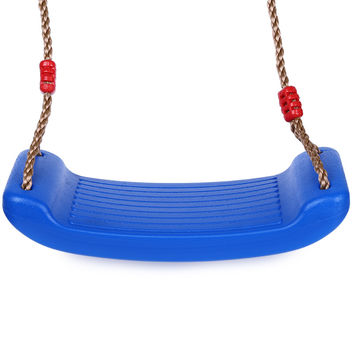 Child Outdoor Patio Swings Belt Seat Toys Environmental Plastic Garden Tree Swing Rope Seat Molded For Kids Hanging Playground