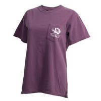The Mizzou Store - Mizzou Comfort Colors Juniors' Como Purple Crew Neck T-Shirt