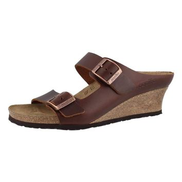 Birkenstock Women's Emina Cork Footbed Wedge Sandal-Narrow