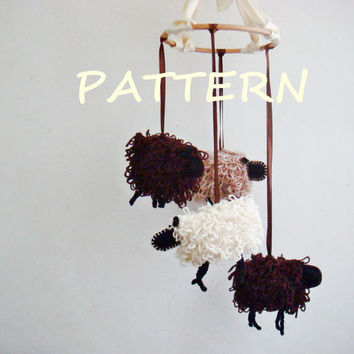 Crochet Sheep Baby Mobile PDF Pattern 248